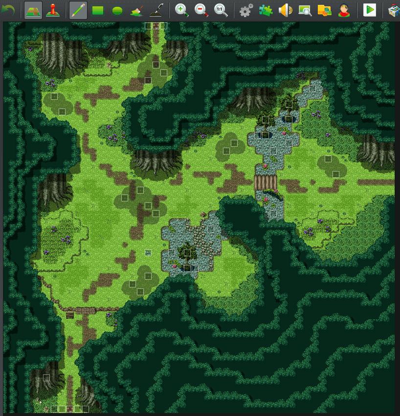 【マップ講座】RPGツクールで暗い森のマップの作り方とプラグインの紹介!