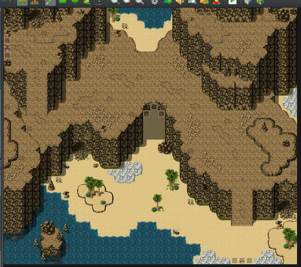 【マップ講座】RPGツクールで海沿いの崖をイメージしたマップの作り方!