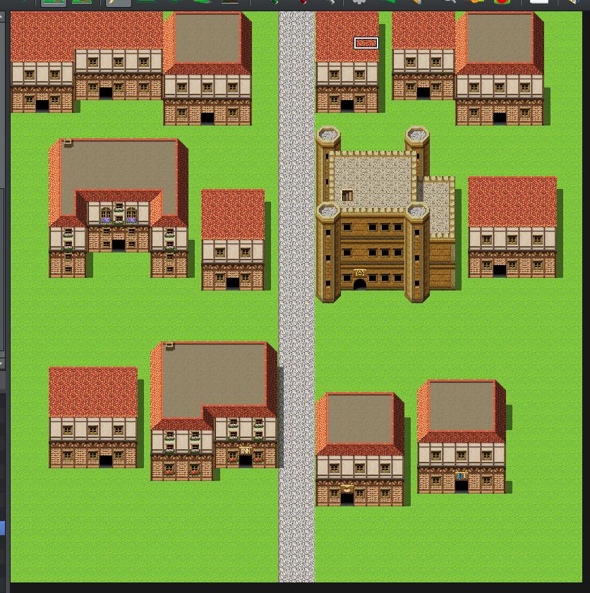 町マップ:民家を置いてみた1