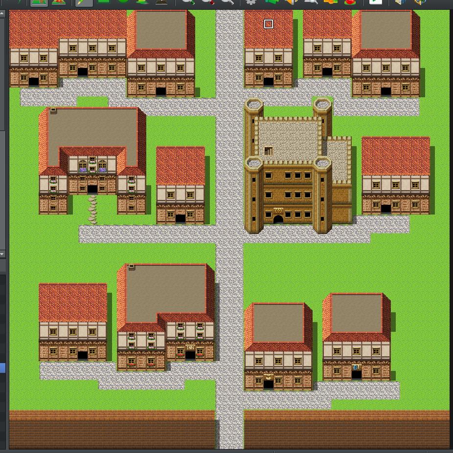 町マップ:道を引いた