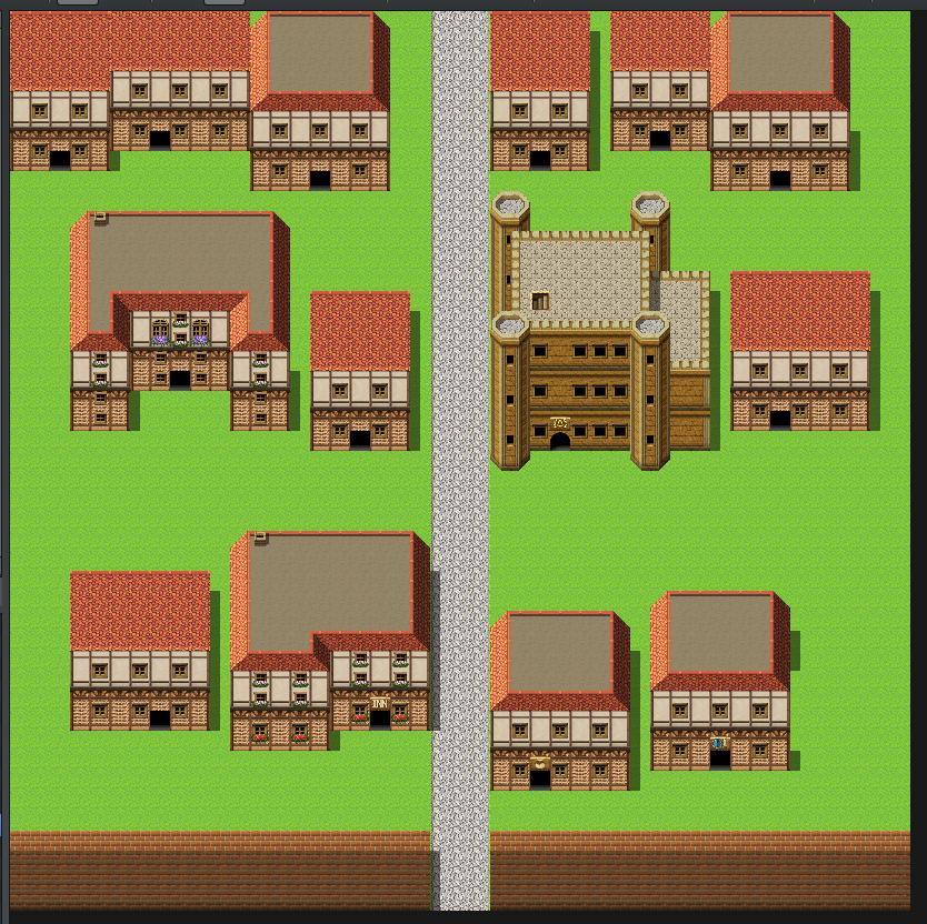 町マップ:塀を使って入り口を表現
