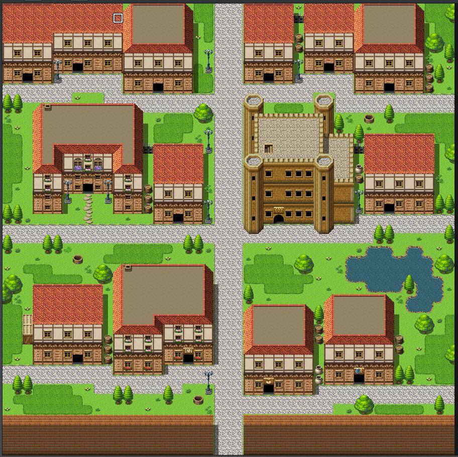 【マップ講座】デフォルトマップチップだけで町を作ろう③【初心者向け】